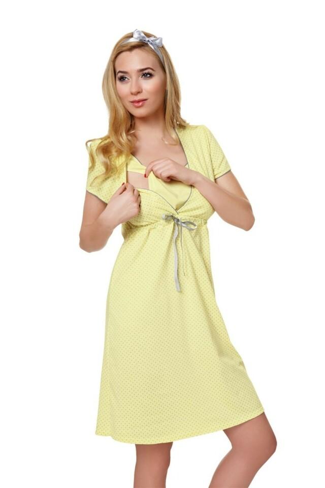 Dámská kojící košile Felicita yellow - M - žlutá