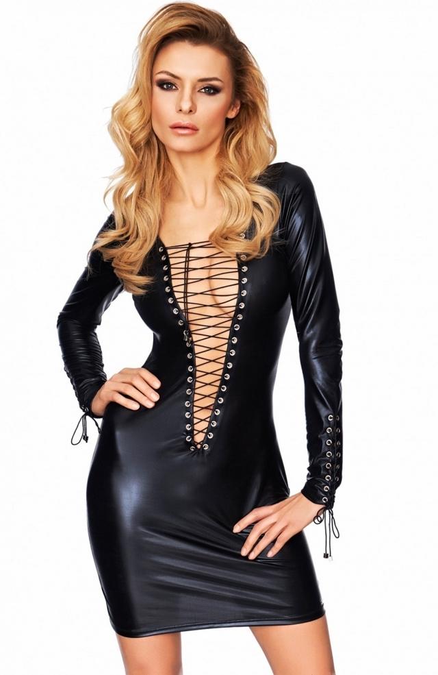 Erotické šaty Enna - M - černá