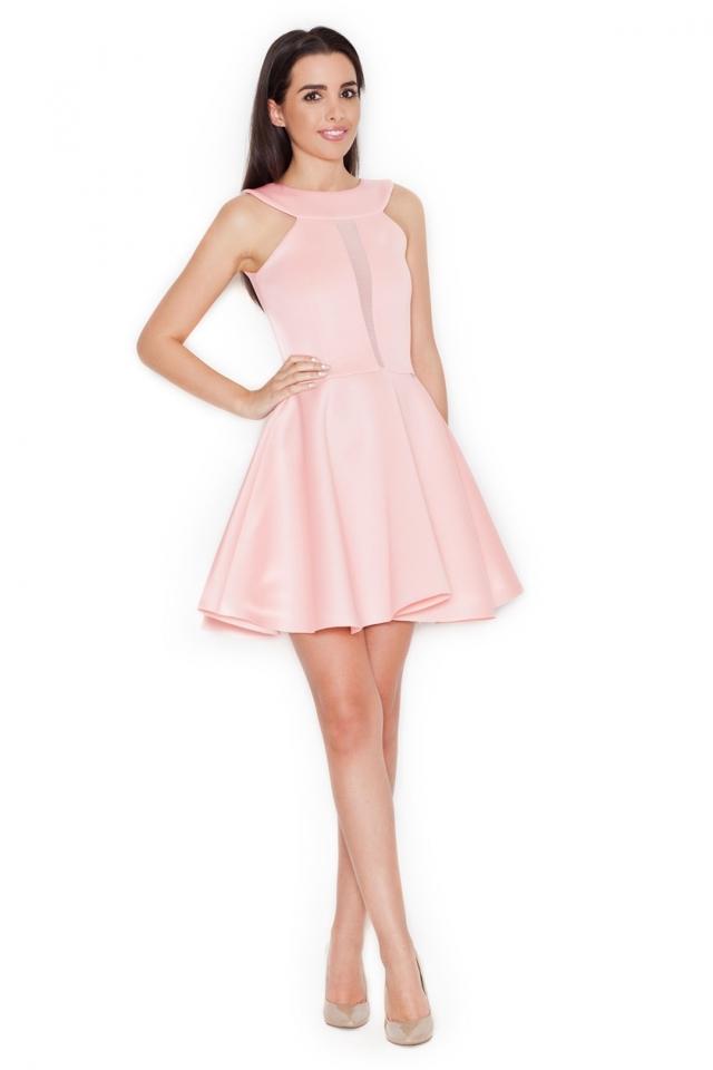 Dámské šaty K270 pink - S - pudrově růžová 6ef254257ce