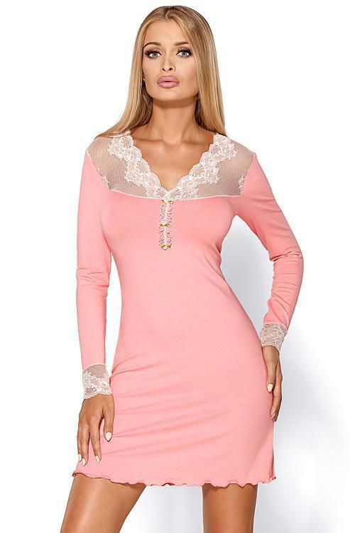 Noční košilka Hamana Melani light pink - XL - světle růžová