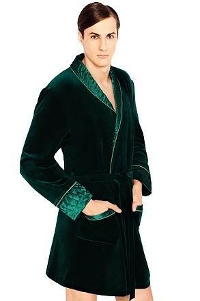 Luxusní pánský župan Bonjour temně zelený