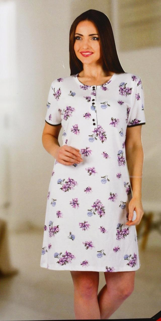 Dámská noční košile 12594 - Sabrina - XL - fialová