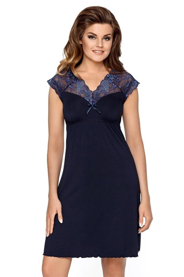 Noční košile Lilianna - M - tmavě modrá