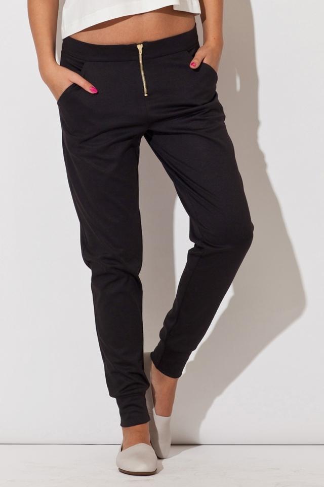 Dámské kalhoty K153 black - M - černá