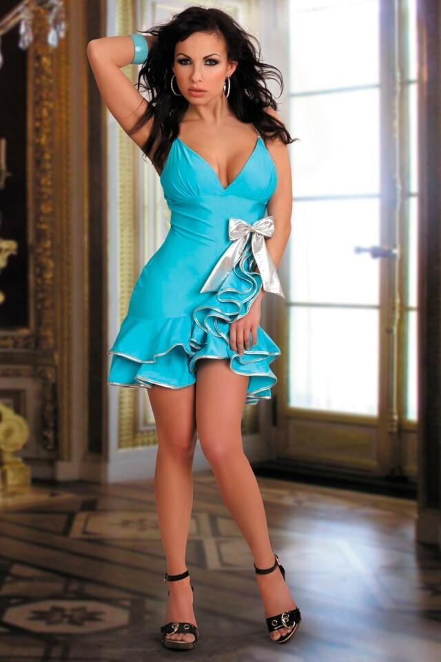 Dámské šaty Caprice - L - modrá