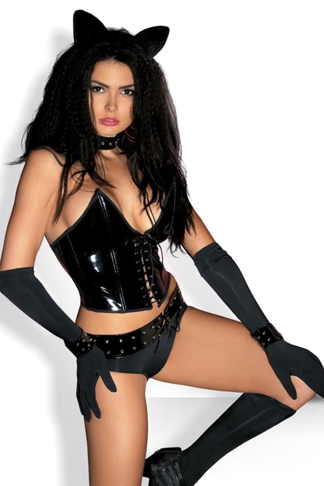 Dámský kostým Pussycat - S/M - černá
