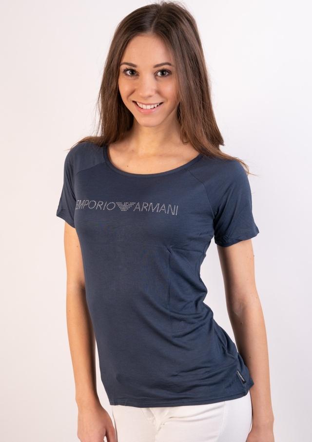 46f2cff27119 Dámské tričko Emporio Armani 164016 8P254 - L - Tm. modrá
