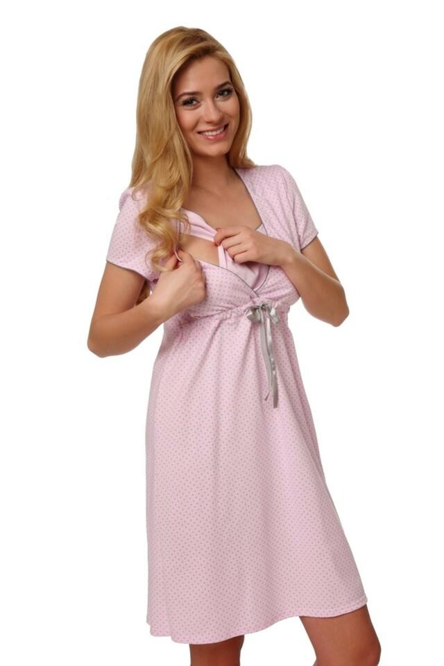 Dámská kojící košile Felicita pink - M - růžová