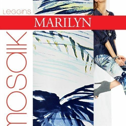 Dámské legíny 777 Mosaik - Marilyn - M/L - bílo-modrá