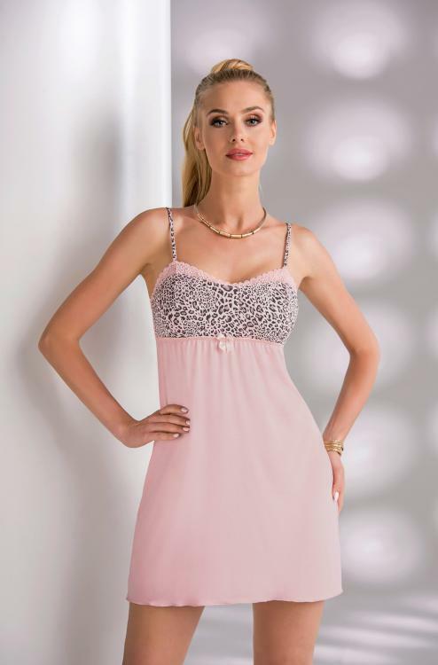 Noční košilka Donna Marika II - powder pink - XL - pudrový ruž