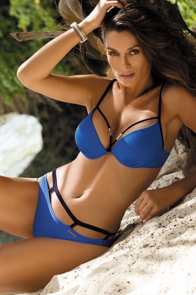 Dámské dvojdílné plavky Marko Nathalie M-391 - M - royal blue