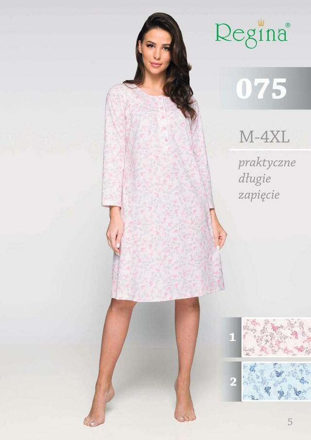 Dámská noční košile 075 - růžová - M