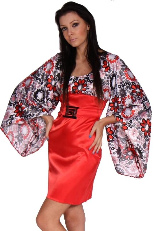 Saténové šaty s rukávem