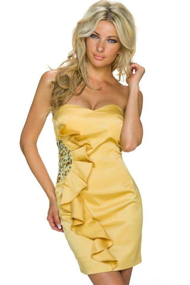 Plesové šaty krátké - M/L