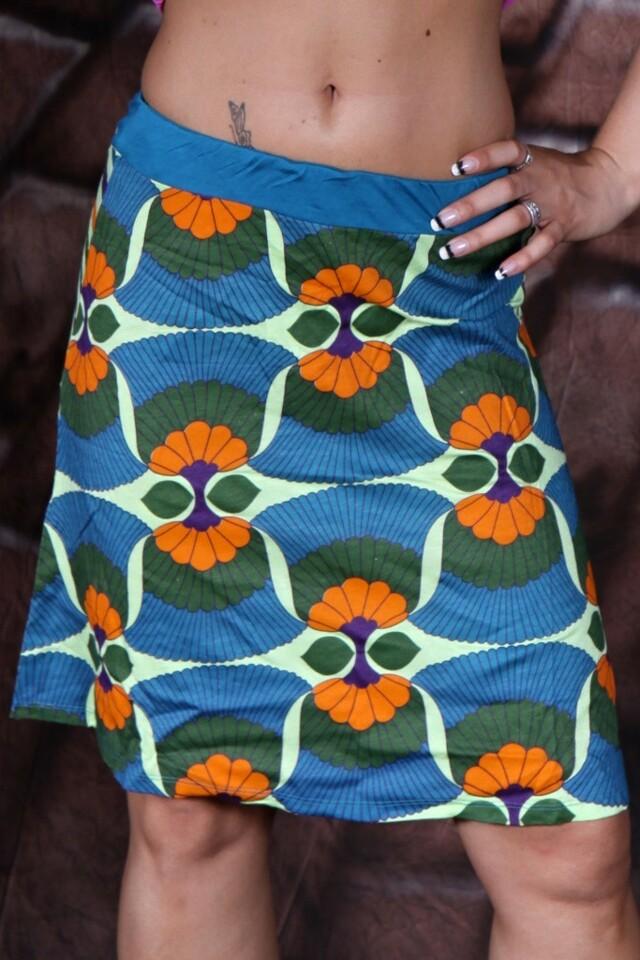 Retro barevně vzorovaná sukně