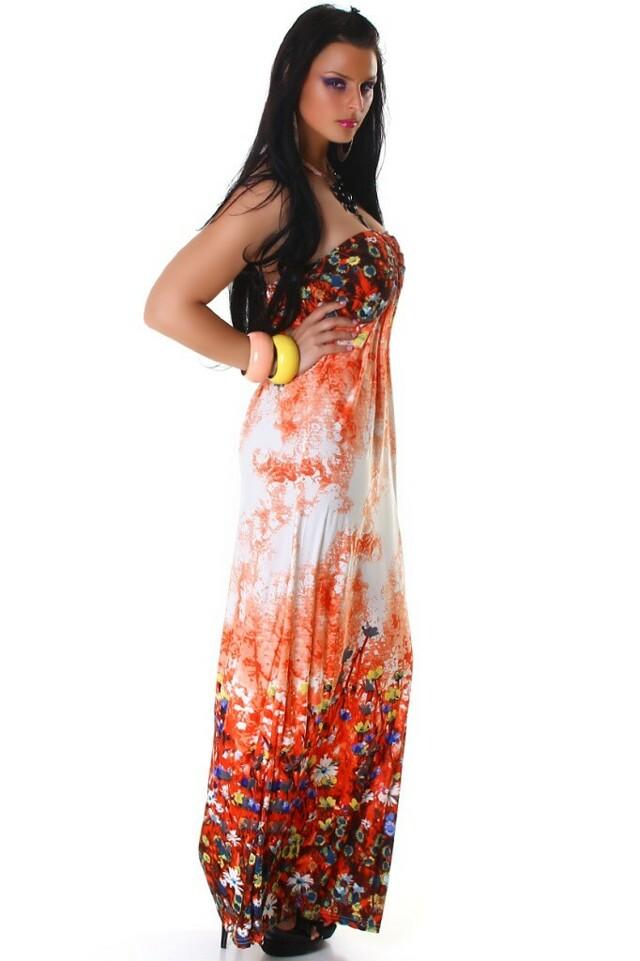 Dlouhé letní šaty - M/L