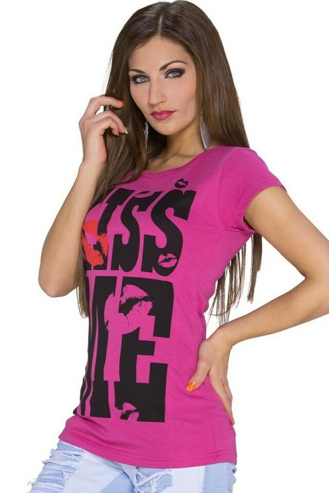 Dámské tričko s potiskem - M