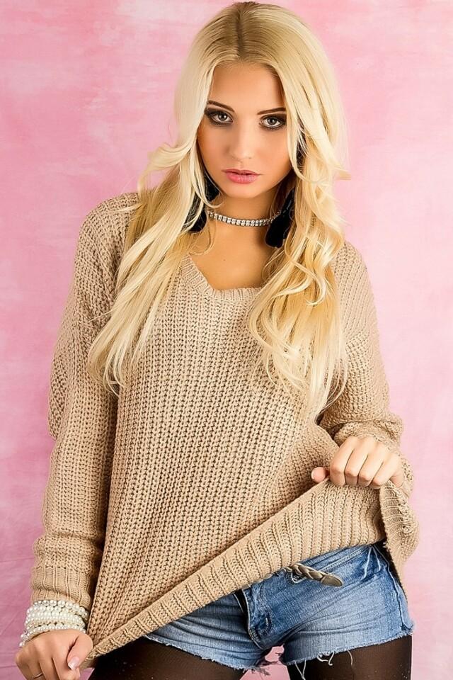 Dámský svetr pletený