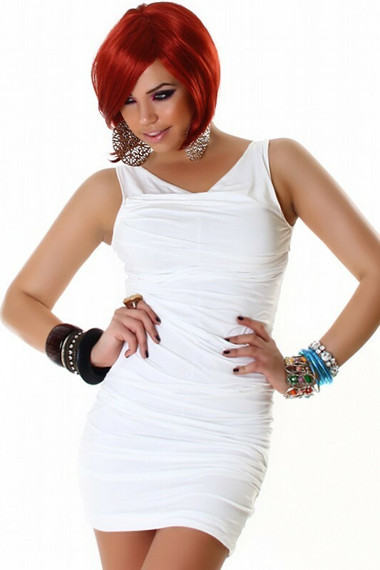 Bílé mini šaty
