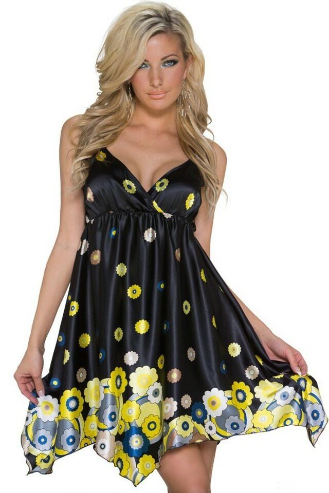 Letní šaty krátké - L/XL