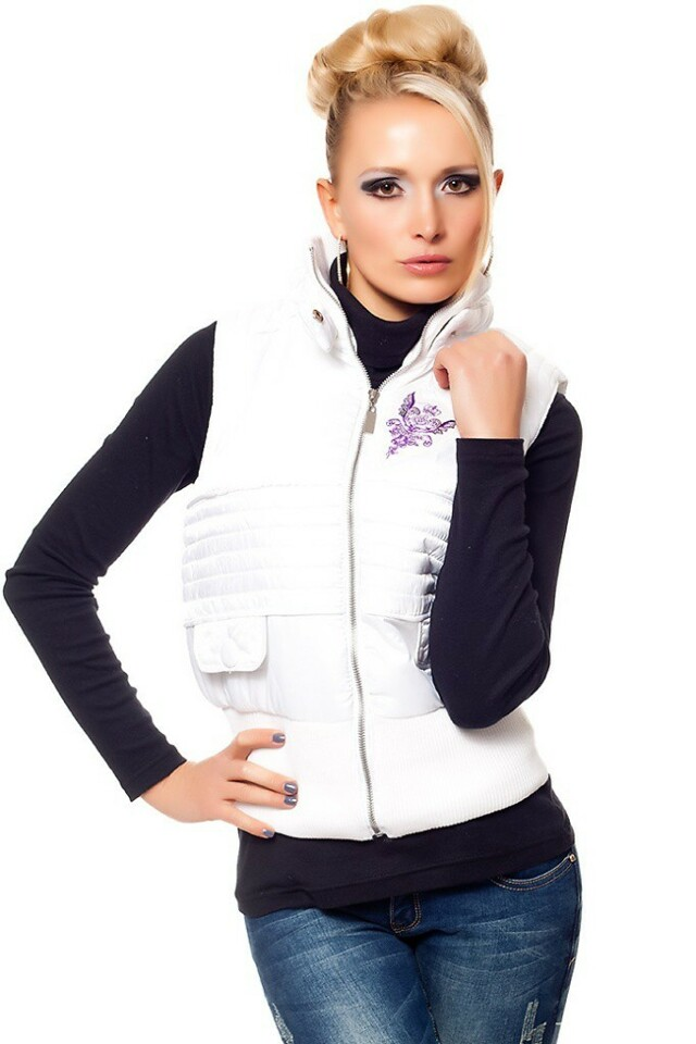 Zimní prošívaná vesta - L