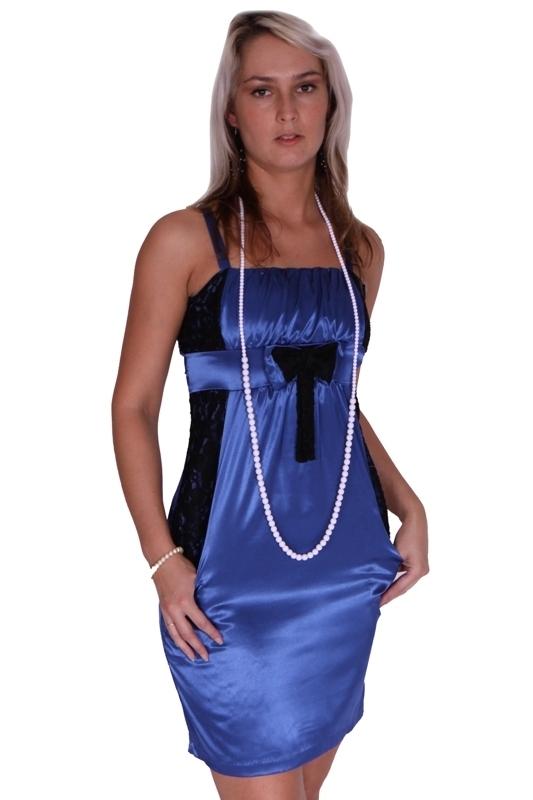 Saténové šaty s mašlí