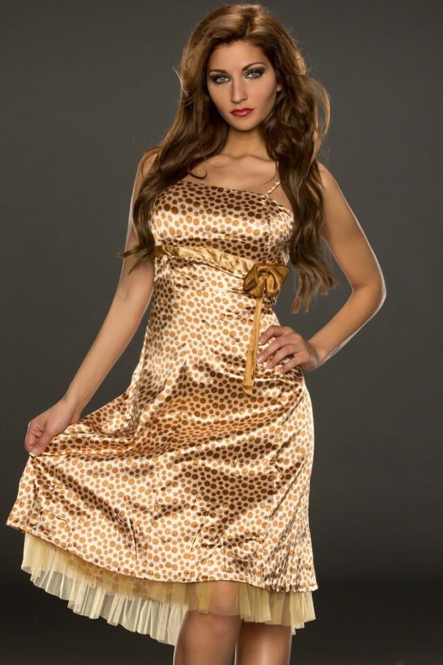 Saténové letní šaty