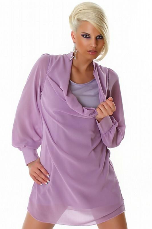 Fialové dámské šaty - M
