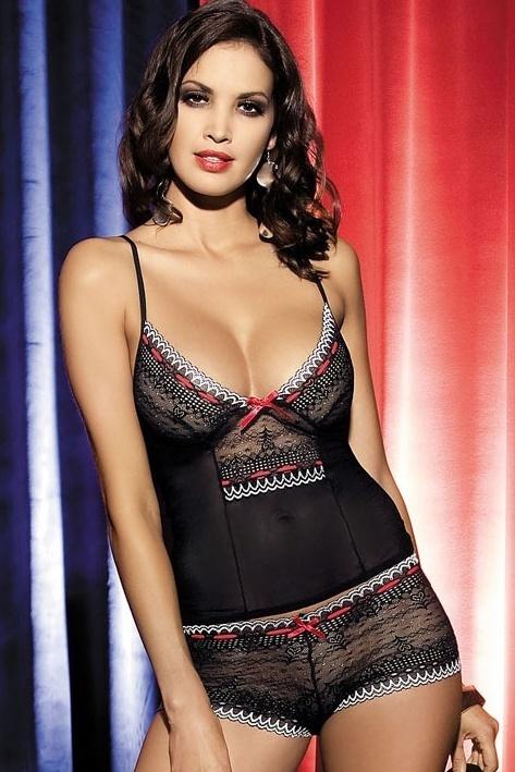 Souprava Showgirl top + shorts - S/M