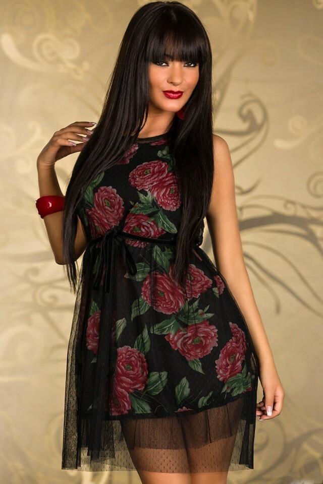 Letní šaty s tylem - M/L