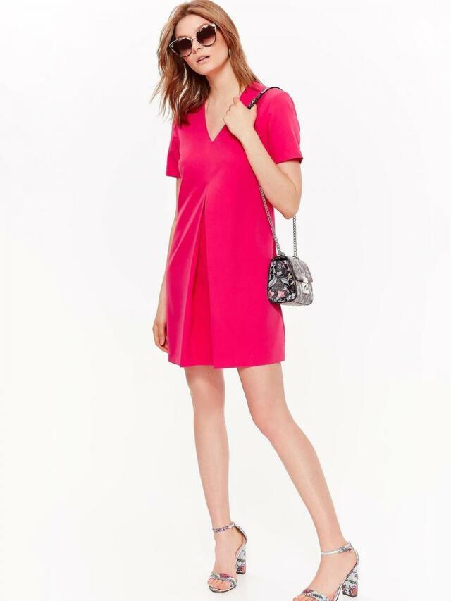 2de318598333 Top Secret šaty dámské růžové s krátkým rukávem na zip - 34