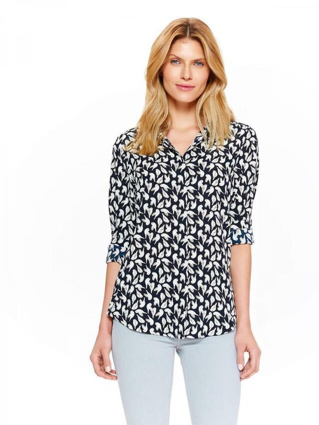 Top Secret Košile dámská se vzorem a dlouhým rukávem - XS