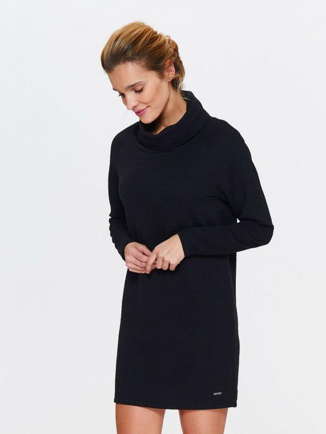 5b31a33b7b85 ... Top Secret šaty dámské tmavě modré se stojáčkem a dlouhým rukávem  (536964) - 3 ...