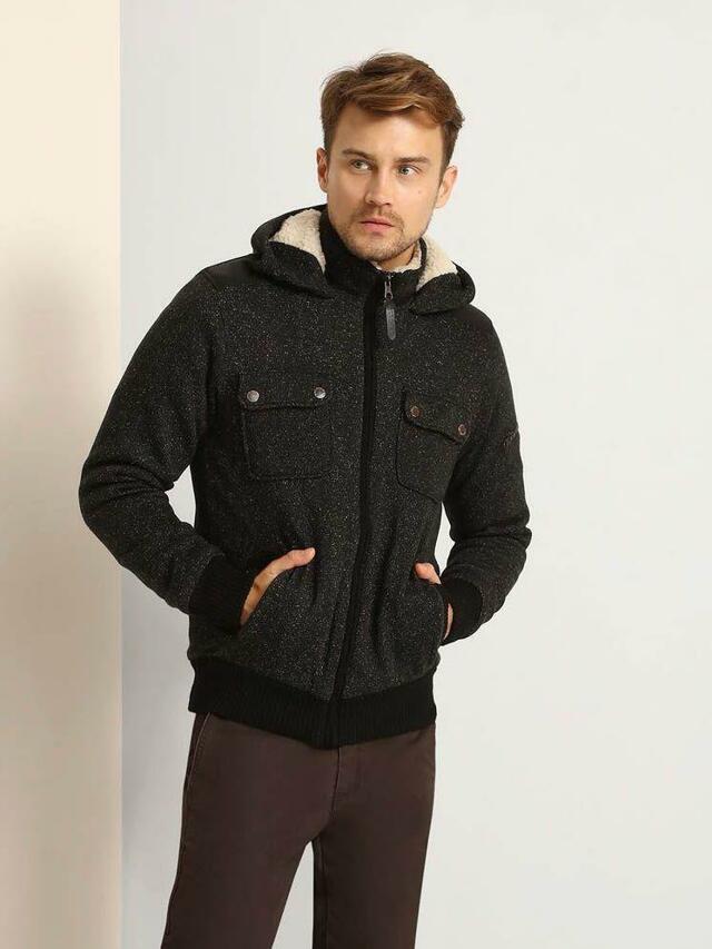 Top Secret Mikina pánská na zip s kapucí - XL