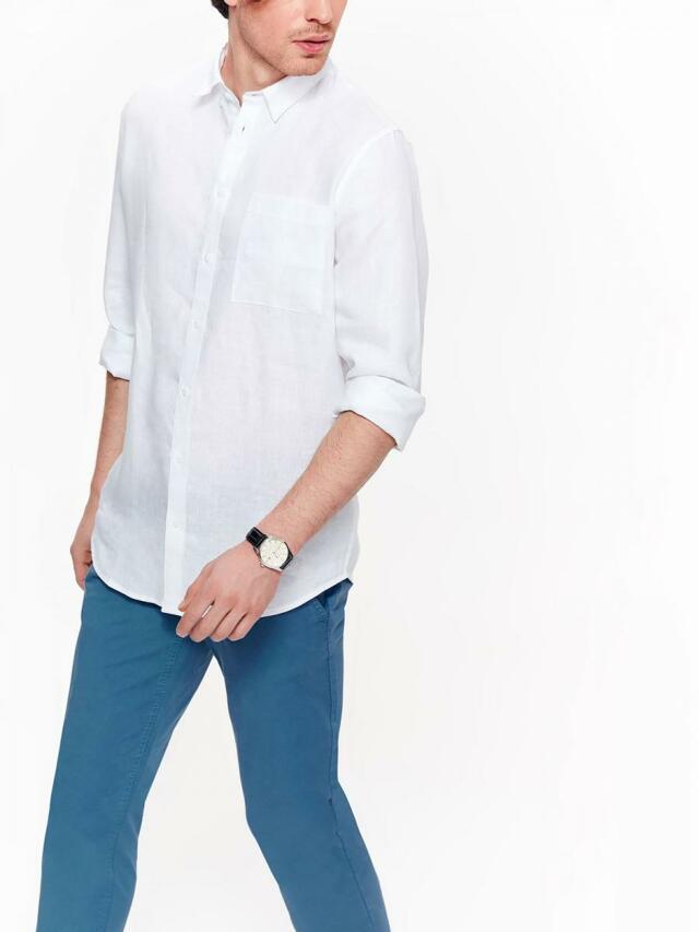 f5dcbb340 Top Secret Košile pánská bílá lněná s dlouhým rukávem(595871) - 6