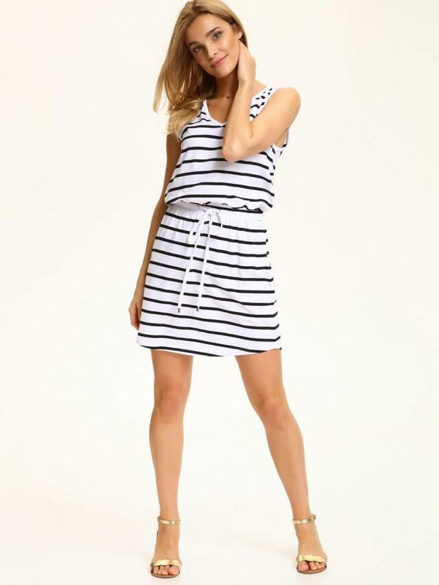 Top Secret šaty dámské bílé pruhované - 40 b6ef768195