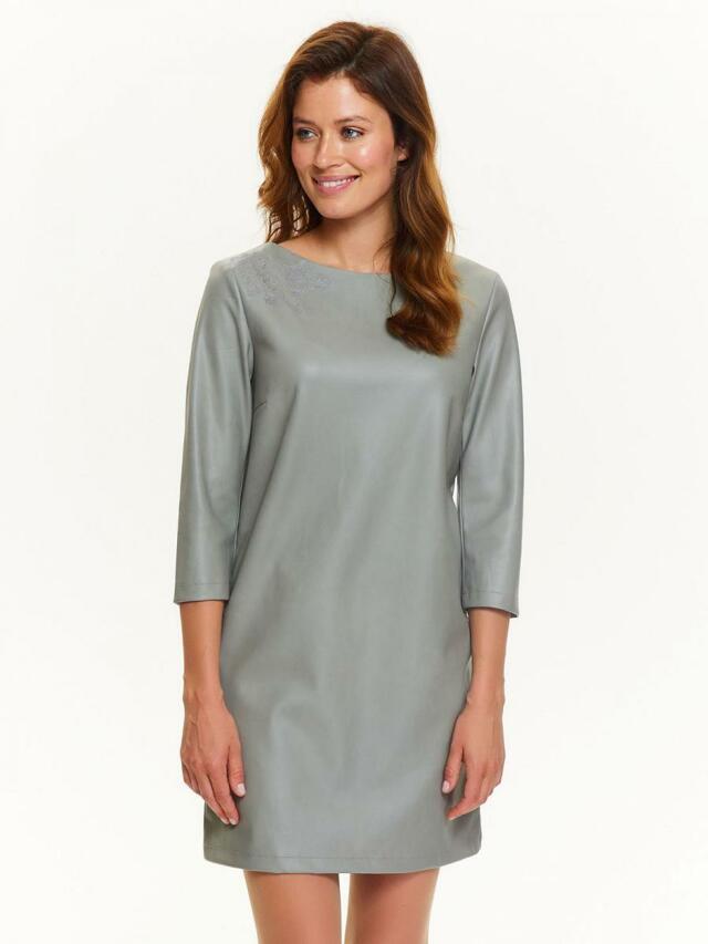 43033b0819fe Top Secret šaty dámské šedé s 3 4 rukávem