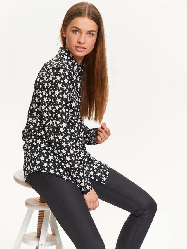 Top Secret Košile dámská HVĚZDA dlouhý rukáv - S