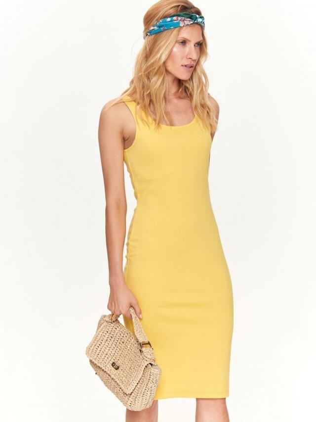 21d61b0fe Top Secret šaty dámské žluté MIDI bez rukávu - 36