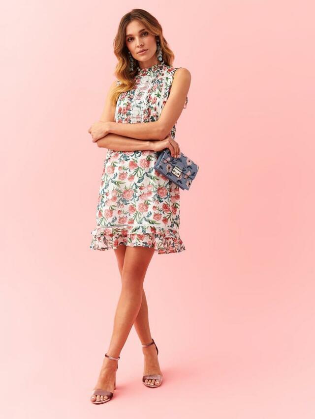 Top Secret Šaty dámské JANET květované bez rukávu - 46