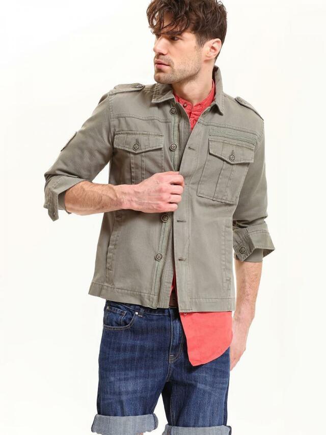 93b991ca4 Top Secret Košile pánská červená lněná s dlouhým rukávem(436939) - 5