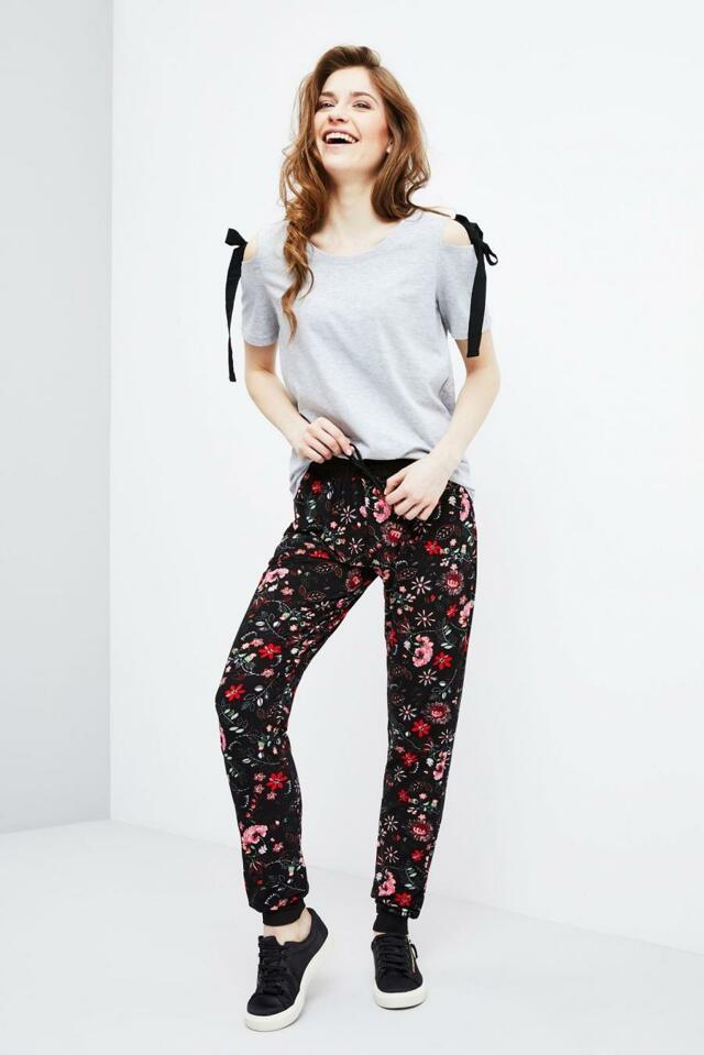 Moodo Kalhoty dámské vzorované na gumu - XS