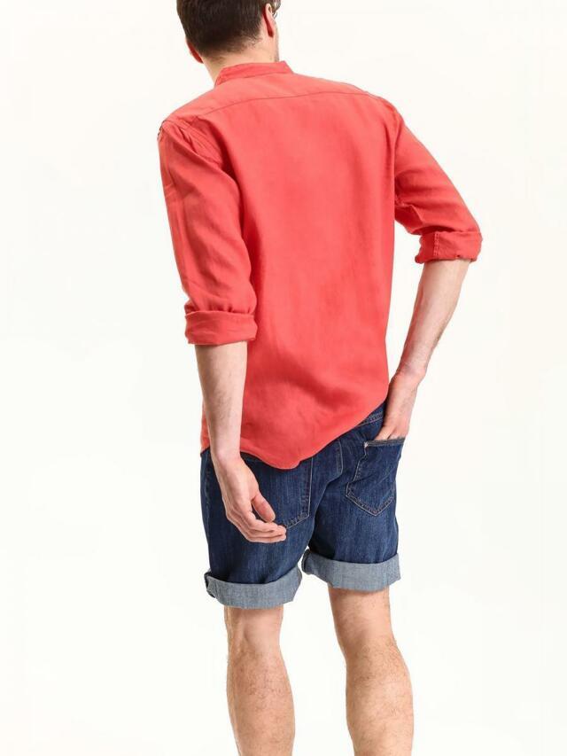 d38f20270 Top Secret Košile pánská červená lněná s dlouhým rukávem(436939) - 6