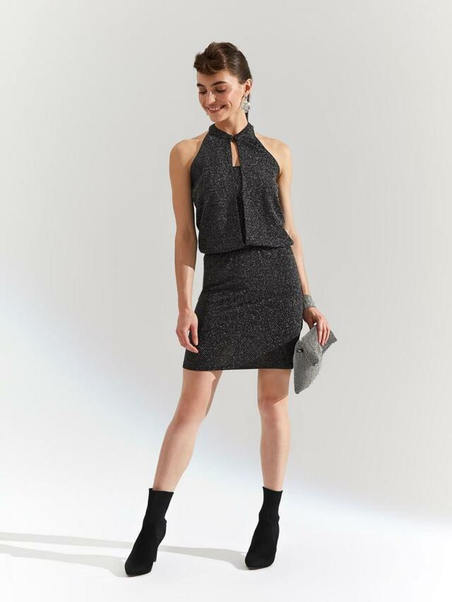 Top Secret Šaty dámské plesové bez rukávu - 44