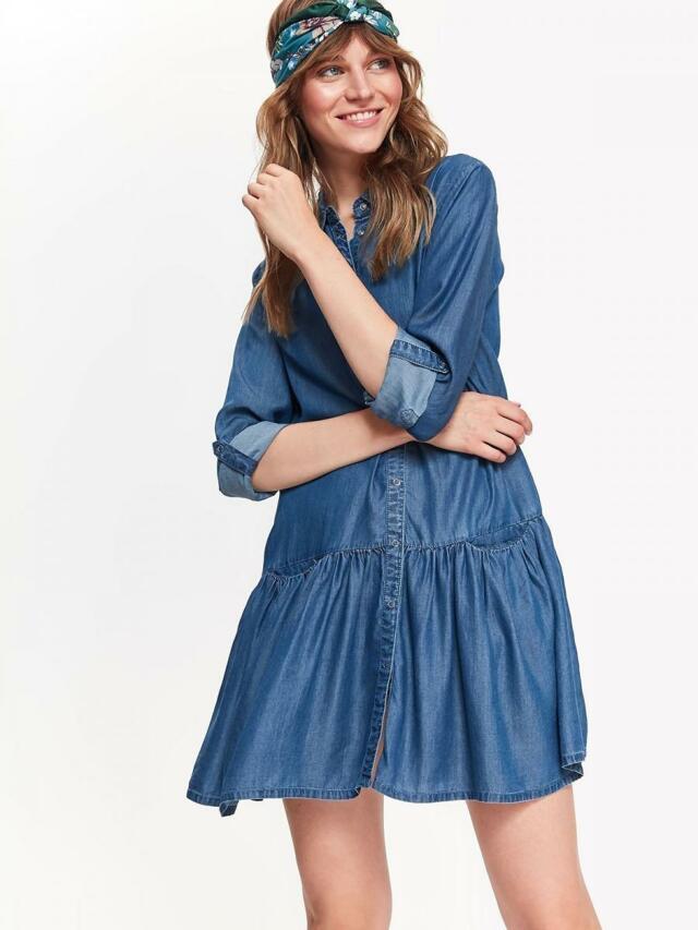 05d09b2fac4 Top Secret šaty dámské jeans s dlouhým rukávem