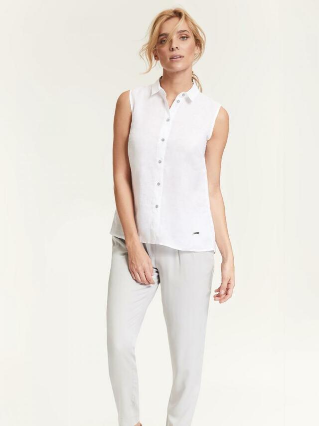 Top Secret Košile dámská bílá bez rukávu - 34