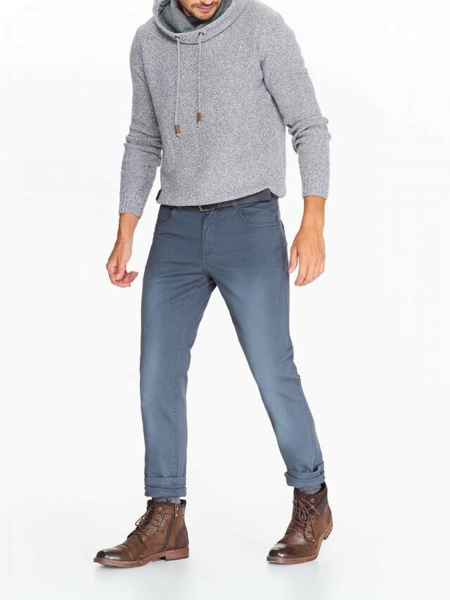 Top Secret Kalhoty pánské šedo modré s mírným sepráním