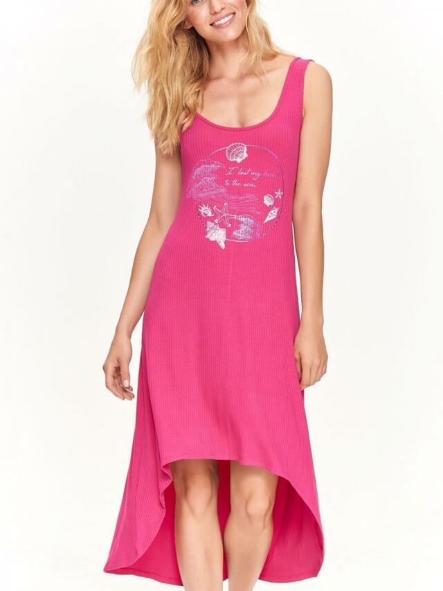 c5f95ba077f7 Top Secret šaty dámské dlouhé MAXI růžové s kratším předním dílem - 34
