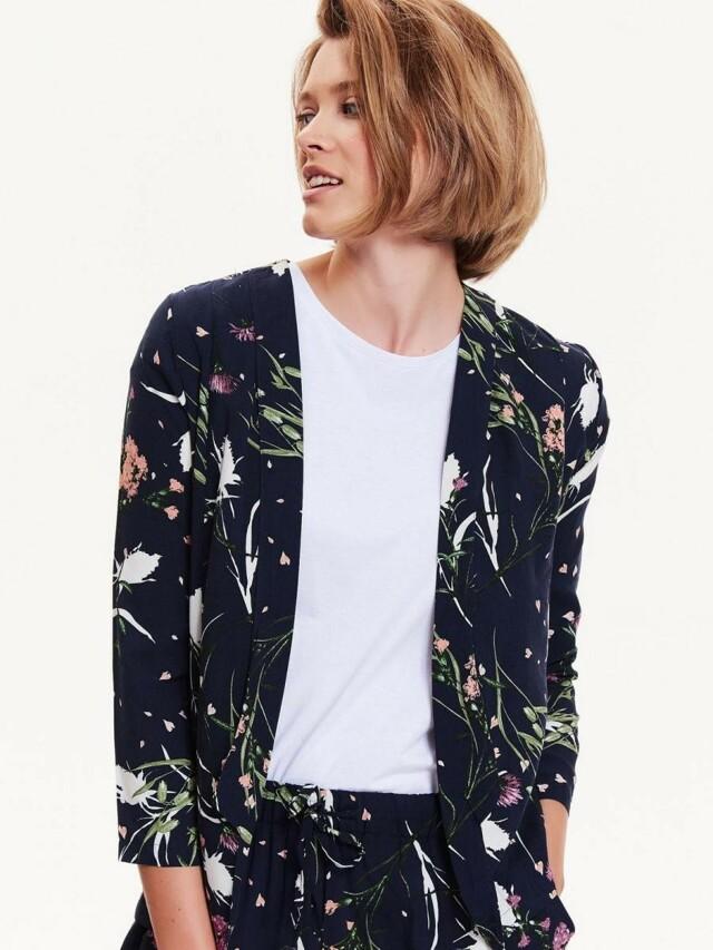 Top Secret Sako dámské květované bez zapínání a 3/4 rukávem