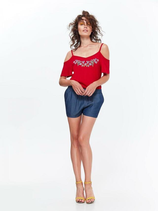 Top Secret Halenka dámská červená s odhalenými rameny